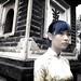 A Vietnamese Girl at the Pagoda of Tran Quoc