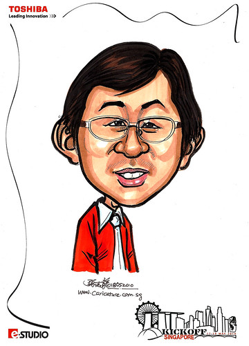 Caricature of  David Chin