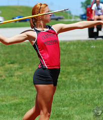 Redhead and a Javelin (GRey_WoLFie) Tags: red sports nikon track missouri nikkor athlete f28 80200mm javelin d80