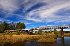 Dalgety Bridge (Built 1888) - Dalgety, NSW (Black Diamond Images) Tags: bridge autumn landscapes australia nsw dalgety snowyriver historicbridges australianlandscapes countrylandscapes waterlandscapes autumnscenes autumnexhibition autumnsouthern tablelandslandscapes dalgetybridge dalgetyweir southernmonaro