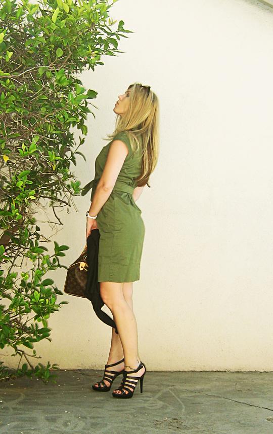 marc by marc jacobs army green shirt dress -2-light