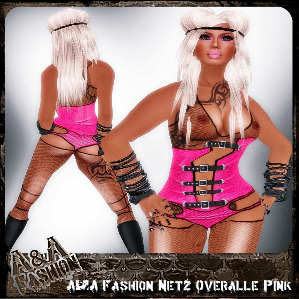 A&A Fashion Netz Overalle Pink