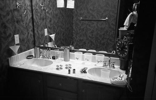 DIY bathroom darkroom