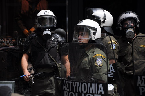 Greek anti-austerity protests turn violent