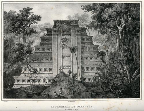 021-La piramide de Papantla llamada el Tajin-Voyage pittoresque et archéologique dans la partie la plus intéressante du Mexique1836-Carl Nebel