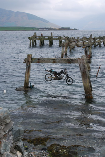 The Hanging bike of Port Bannatyne