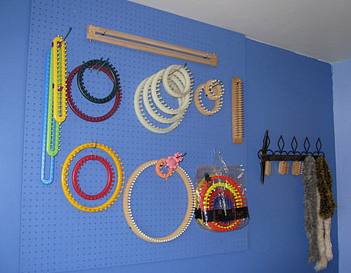 Craft room pegboard