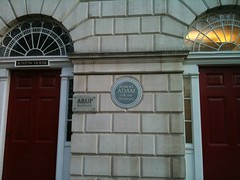 Photo of Robert Adam brown plaque