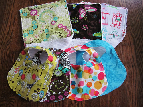 bibs and burp rags