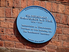Photo of Bernhard Samuelson blue plaque