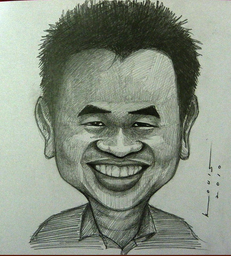 My caricature by caricaturist Louis Ganz