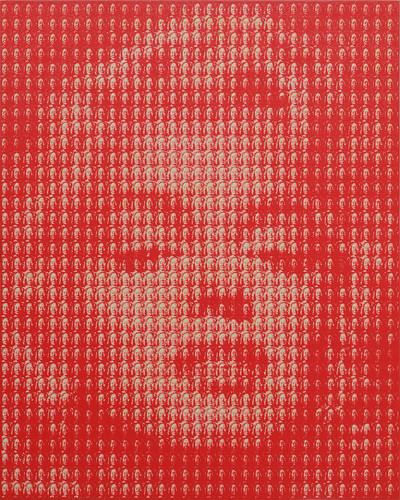 金東囿-瑪麗蓮夢露(毛澤東) Marylin Monroe (Mao Zedong) 162.2x130.3 cm-oil on canva 2010
