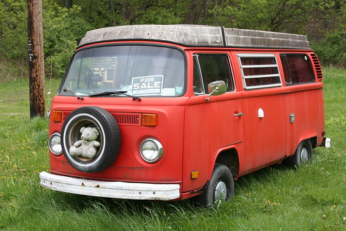 Red VW Bus III