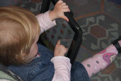 Nora using her iPad