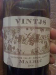 2006 VINTJS Malbec