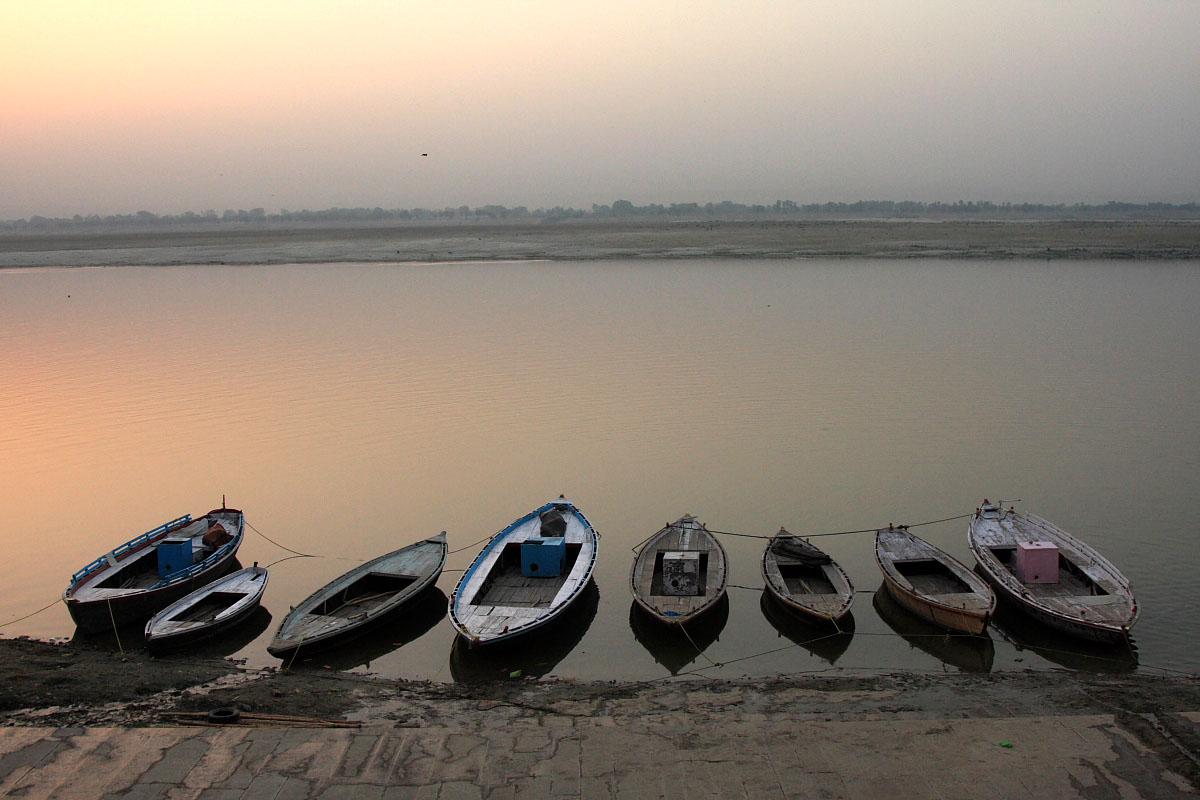 Swięty Ganges w Varanasi