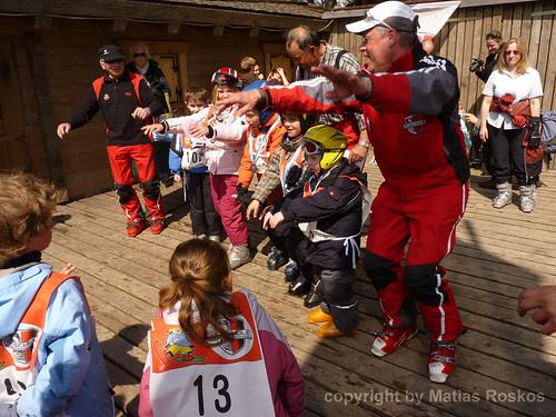 Spaß in der Skischule: Laola