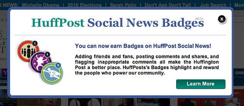 Huffington Post badges