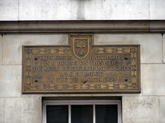 Photo of Hatchards, John Hatchard, and Royal Horticultural Society brass plaque