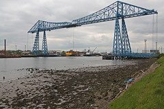 Tees Transporter Bridge (Tudor Barlow) Tags: england spring bridges rivers middlesborough countydurham stocktonontees transporterbridge rivertees portclarence teestransporterbridge tamron1750 rnbtees