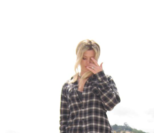 plaid+flannel+gray jeans+michael kors boots-5
