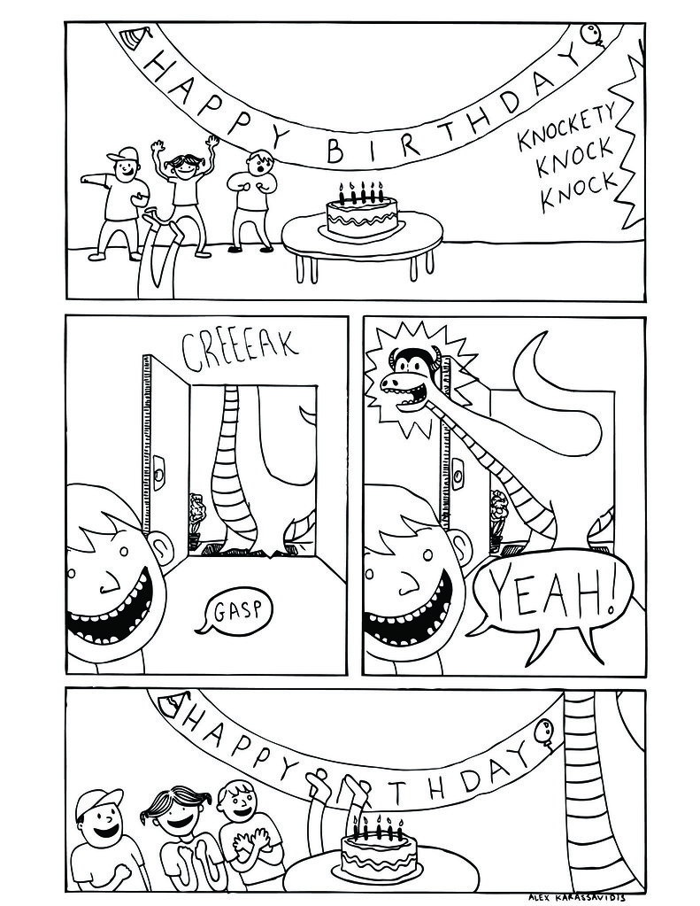Birthday Dragon Page One