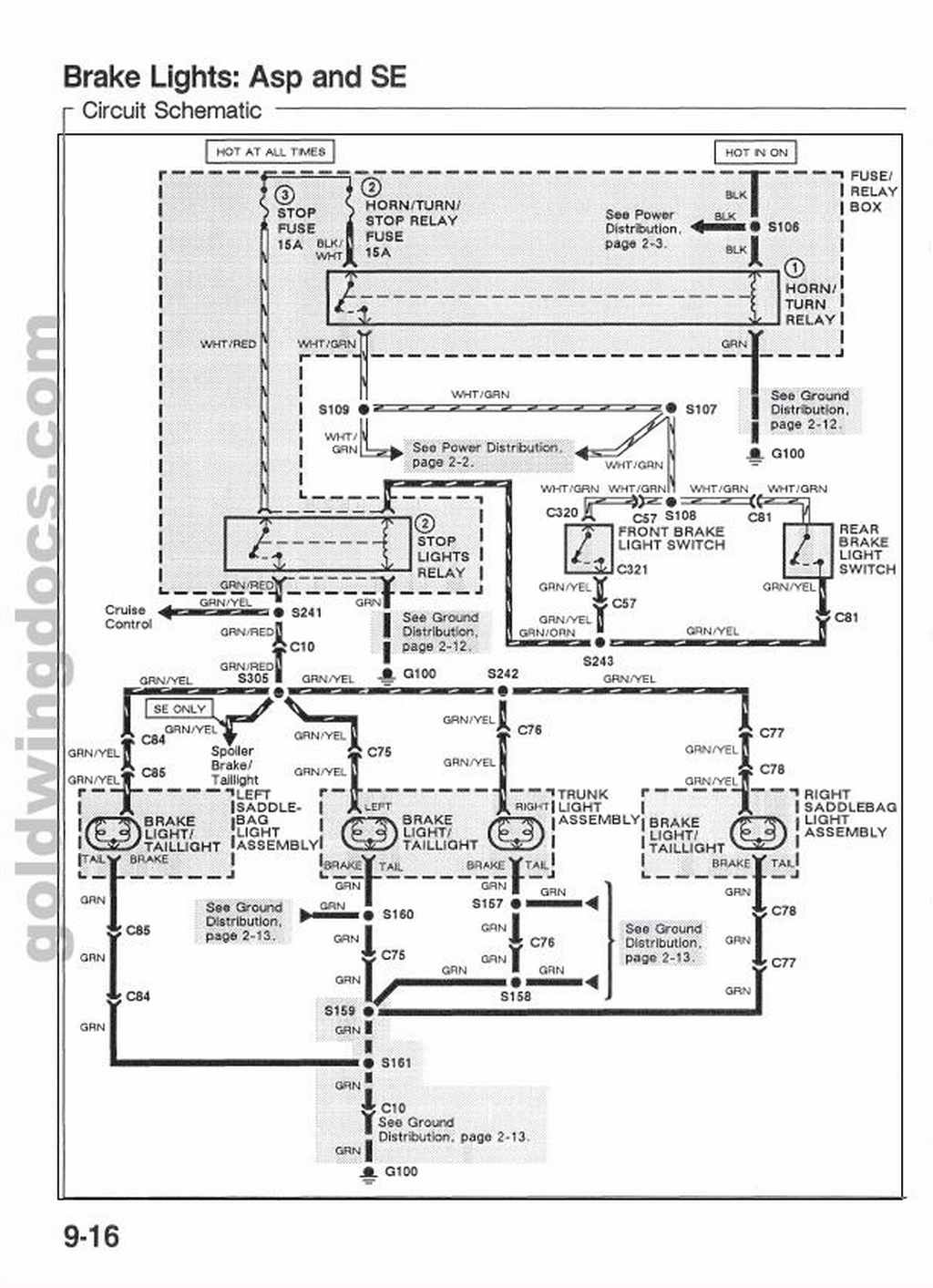 gl1500 wiring diagram wiring diagram g9 1986 Honda Goldwing Ignition Wiring Diagram 89 gl1500 brake light wiring diagram? steve saunders goldwing forums parker trailer wiring gl1500 wiring diagram