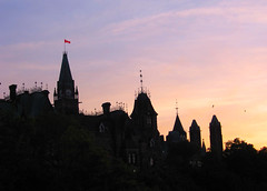 Left Block ~ Parliament Hill II (Sally E J Hunter) Tags: sunset ontario silhouette ottawa parliament parliamenthill gothicrevival moo1 leftblock