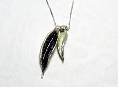 """""""Leaves"""" Enameled Silver Necklace (EfratJewelry) Tags: silver handmade jewelry jewellery sterling 925 enamel silversmith metalsmith sterlingsilver           efratjewelry"""