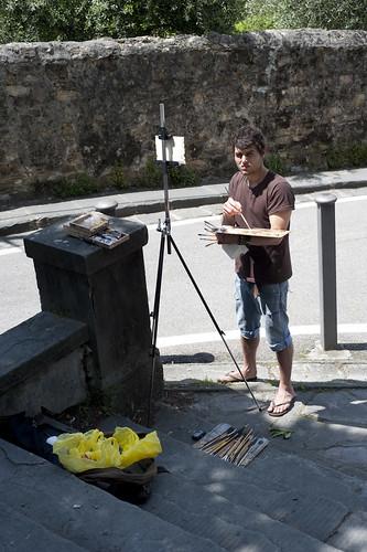 Artist near San Miniato