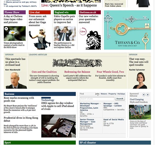 Times down page