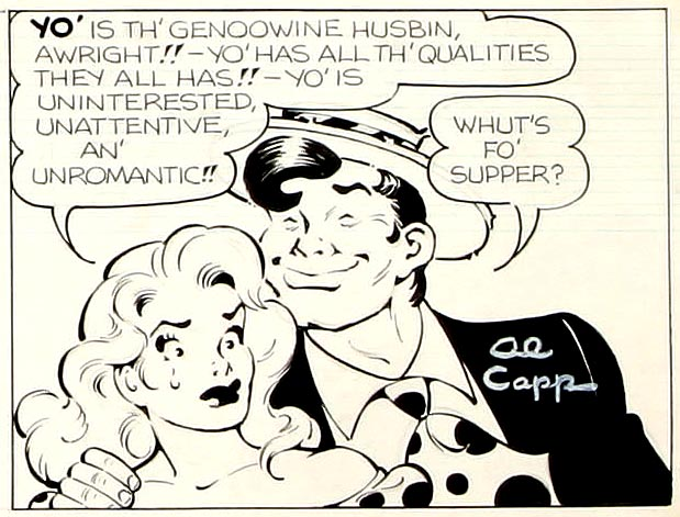 Li'l Abner Sunday Strip, 1960b, detail02