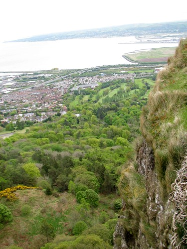 Hanging over edge of cavehill