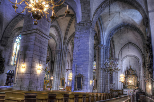 Visby cathedral side nave. Nave lateral de la catedral de Visby.