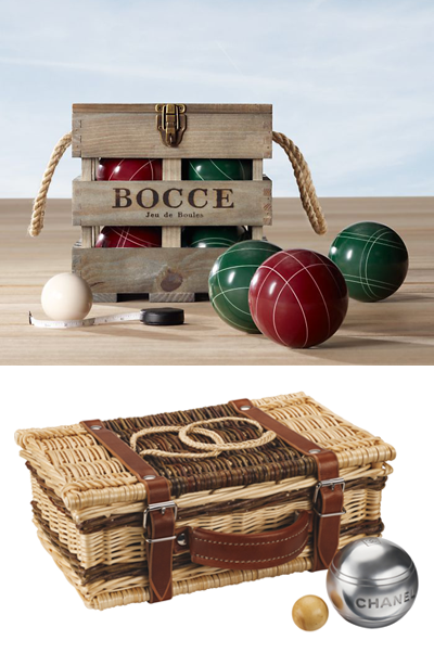 Recently, I came across two bocce ball sets, and they're the prettiest I've