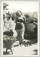 Woman posing in the garden