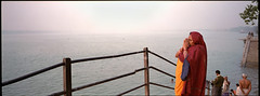 (bradford daly) Tags: panorama woman india west prayer religion praying panoramic hasselblad hindu kolkata bengal xpan calcutta