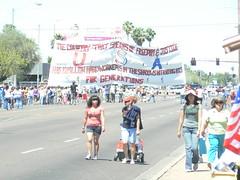 Protesters on Indian School (xomiele) Tags: arizona news phoenix march protest protesta immigration protesters debate marcha reform 1070 protestas sb1070 altoarizona xomiele