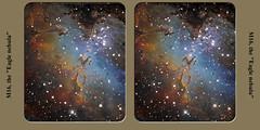 M16_Cross (J-P Metsavainio) Tags: 3d space anaglyph astro nebula astronomy universe m16 redcyan