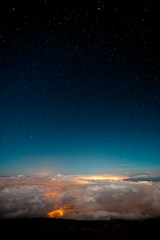 Journey To Make It Better (Eric Rolph) Tags: city blue sunset sky black clouds stars landscape lights hawaii twilight dusk space atmosphere maui haleakala pollution gradient serene galaxies astronomical upcountry centralmaui
