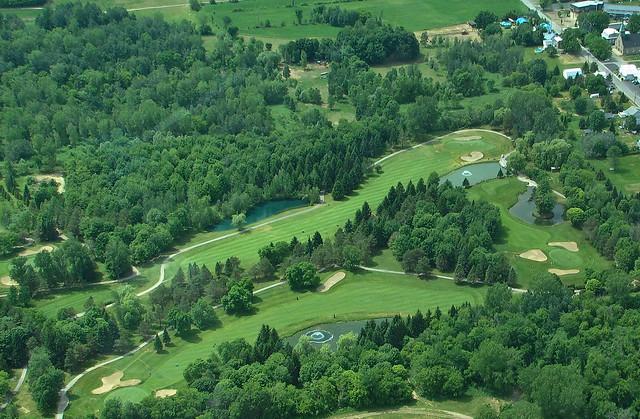 Club de Golf Le Diamant à vol d'oiseau