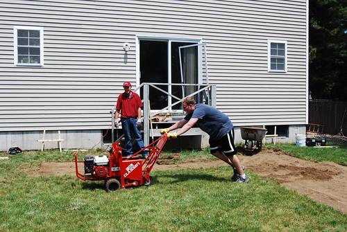Scott using the sod cutter