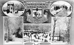 Christmas Greetings from Winnipeg (wintorbos) Tags: winnipeg icefishing winnipeghistory christmaspostcard historicwinnipeg stjohnsparkwinnipeg lyallphotographer winnipegiceskating centralparkwinnipeg winnipegtobogganing