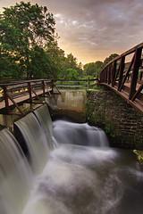 Lambertville Waterfall (MikeMcGowan) Tags: new bridge sunset sky fall water clouds canon hope exposure angle wide nj tokina pa pro 11mm f28 hdr manfrotto blend photomatix 50d lamberville 1116mm