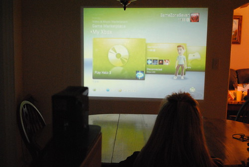 how to set up an xbox to a projector