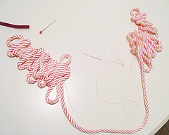 Rope Necklace-5 (...love Maegan) Tags: diy accessories doityourself pearlnecklace flowernecklace ribbonnecklace necklacediy easydiys prettyinpinknecklaces