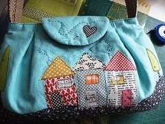 "detail ""Two Trees Road"" (monaw2008) Tags: house flower bag handmade linen fabric cotton patchwork applique handbag handstitching monaw monaw2008"