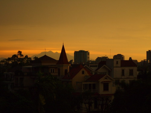 Clear sunset in Hanoi