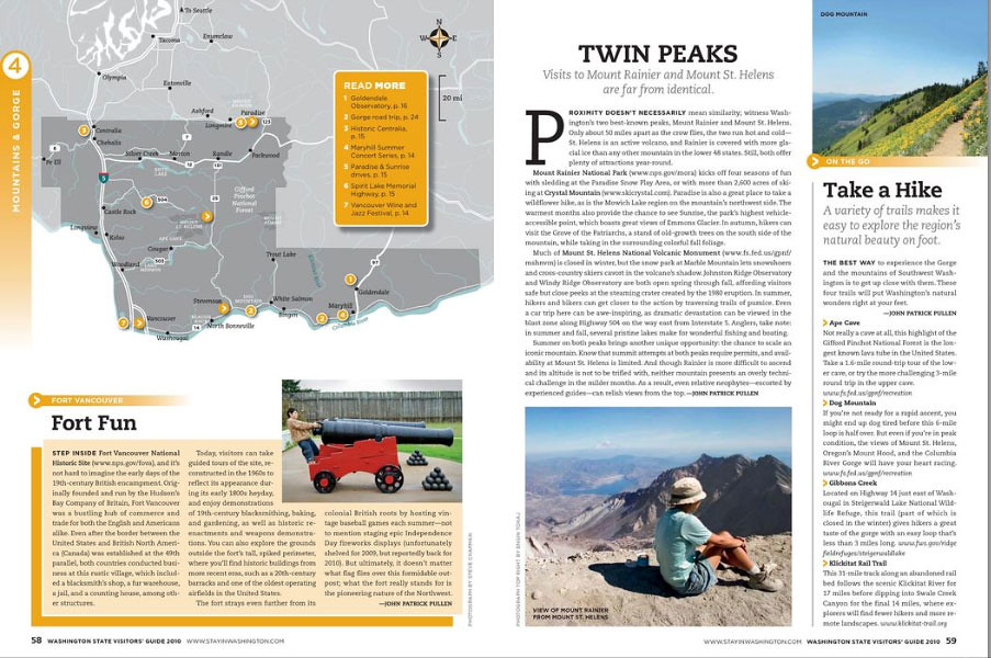 I've got two images printed in Washington State Visitors' Guide for 2010