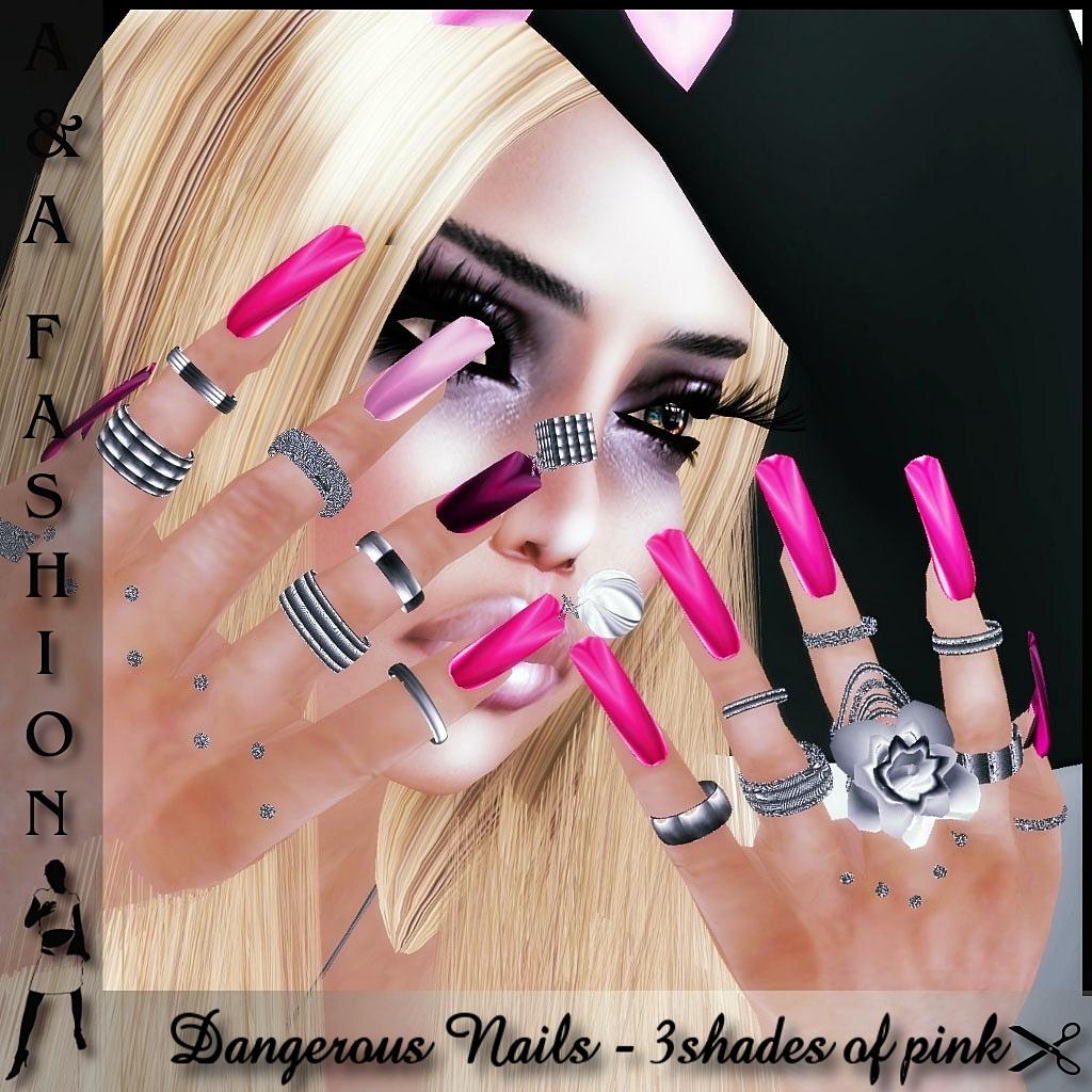 A&A FAshion  Dangerous Nails2010 pink
